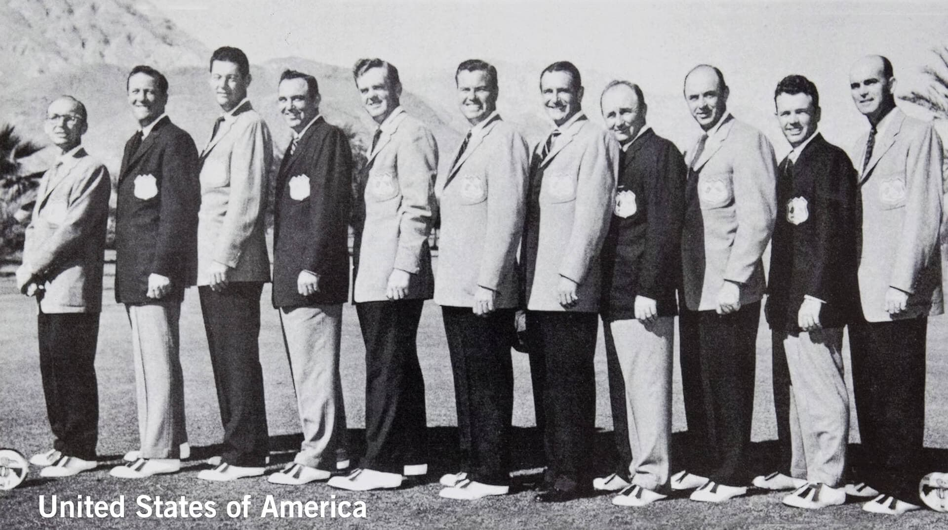 1955 Thunderbird Golf Club, California. USA Team. November 5th & 6th. Final Score: U.S.A. 8 - Britain & Ireland 4.