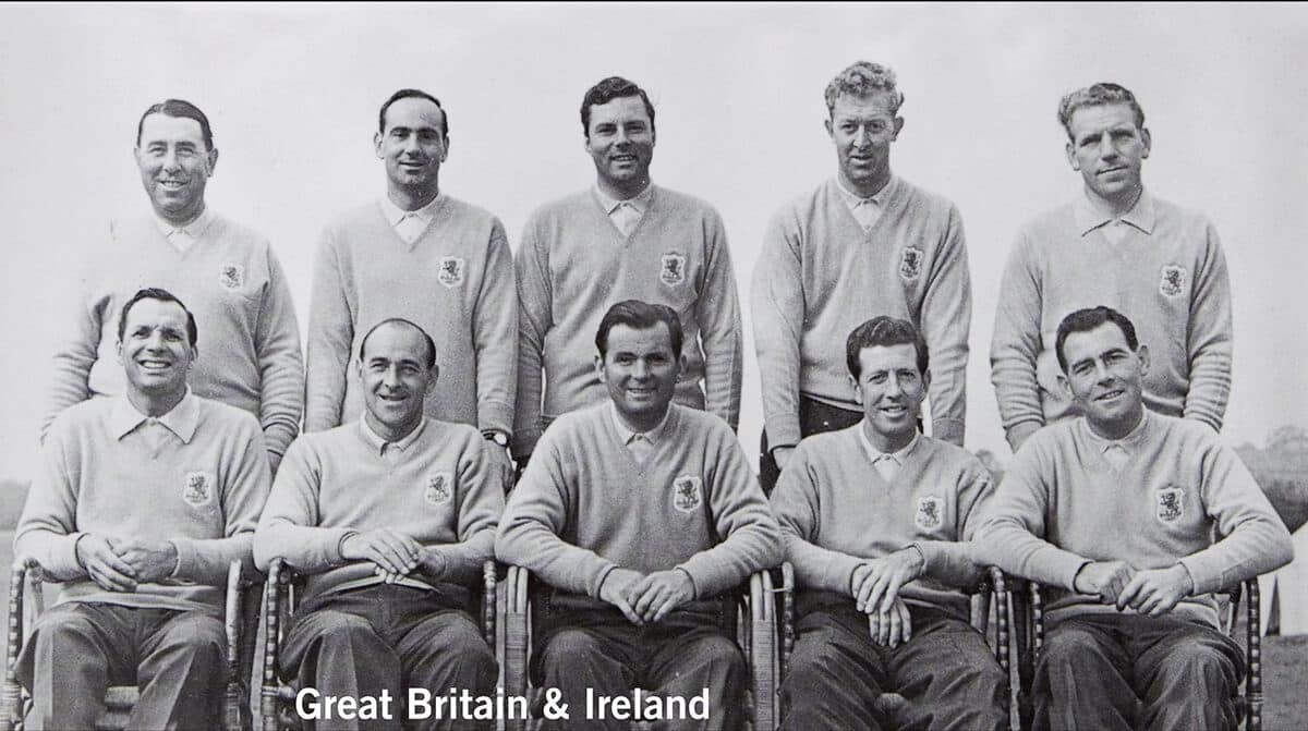 1957 - Lindrick Golf Club, Yorkshire. Great Britain & Ireland Team. October 4th & 5th. Final Score: Britain & Ireland 7 1/2 - U.S.A. 4 1/2.