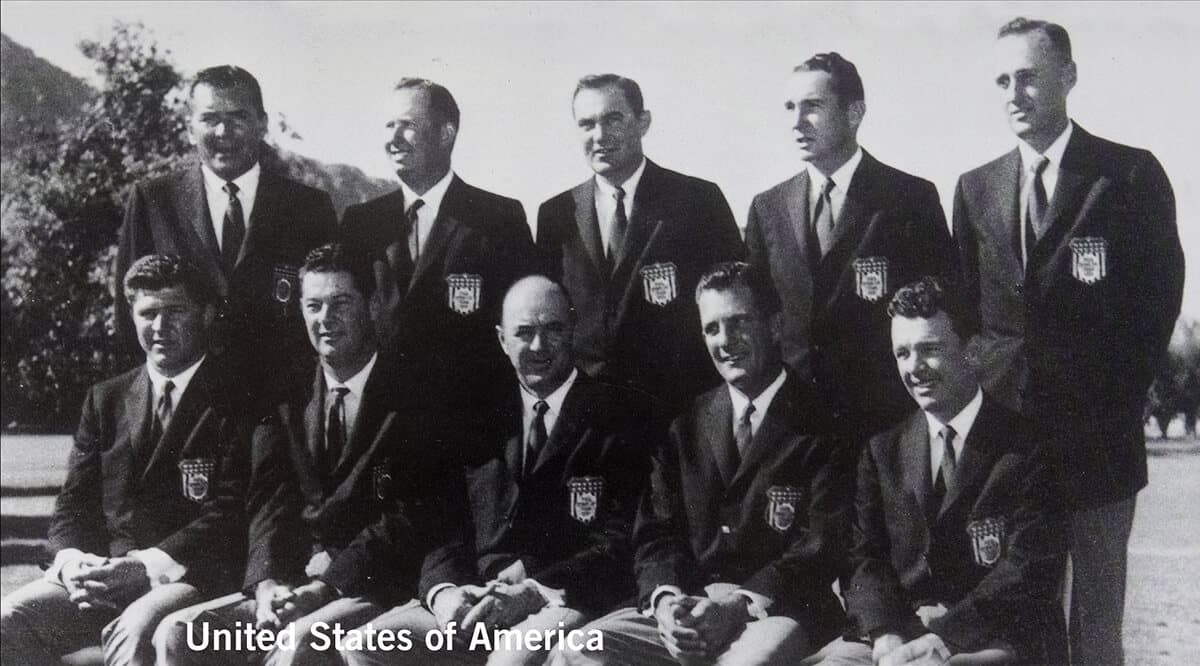 1959 - Eldorado Country Club, California. United States of America Team. November 6th & 7th. Final Score: U.S.A. 8 1/2 - Britain & Ireland 3 1/2.