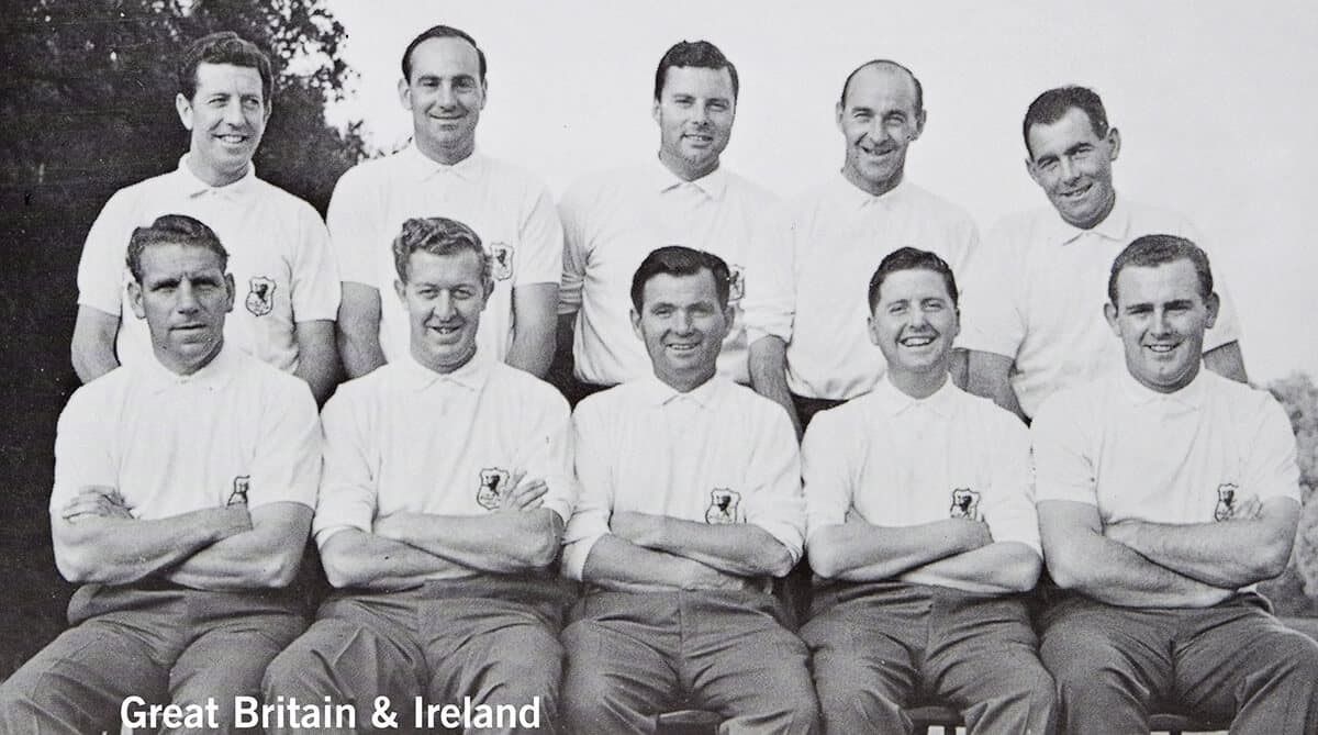 1959 - Eldorado Country Club, California. Great Britain & Ireland Team. November 6th & 7th. Final Score: U.S.A. 8 1/2 - Britain & Ireland 3 1/2