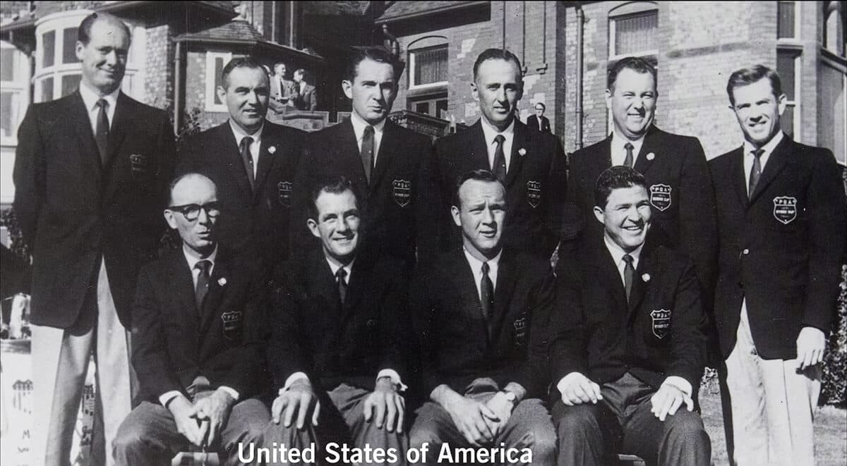 1961 - Royal Lytham & St. Anne's. United States of America Team. October 14th & 15th. Final Score: U.S.A. 14 1/2 - Britain & Ireland 9 1/2