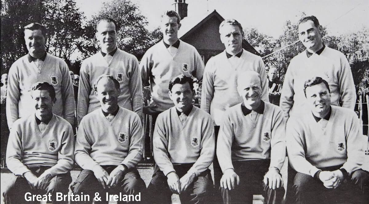 1961 - Royal Lytham & St. Anne's. Great Britain & Ireland Team. October 14th & 15th. Final Score: U.S.A. 14 1/2 - Britain & Ireland 9 1/2.
