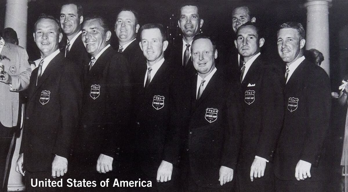 1963 - Atlanta, Georgia. United States of America Team. October 11th, 12th & 13th. Final Score: U.S.A. 23 - Britain & Ireland 9.