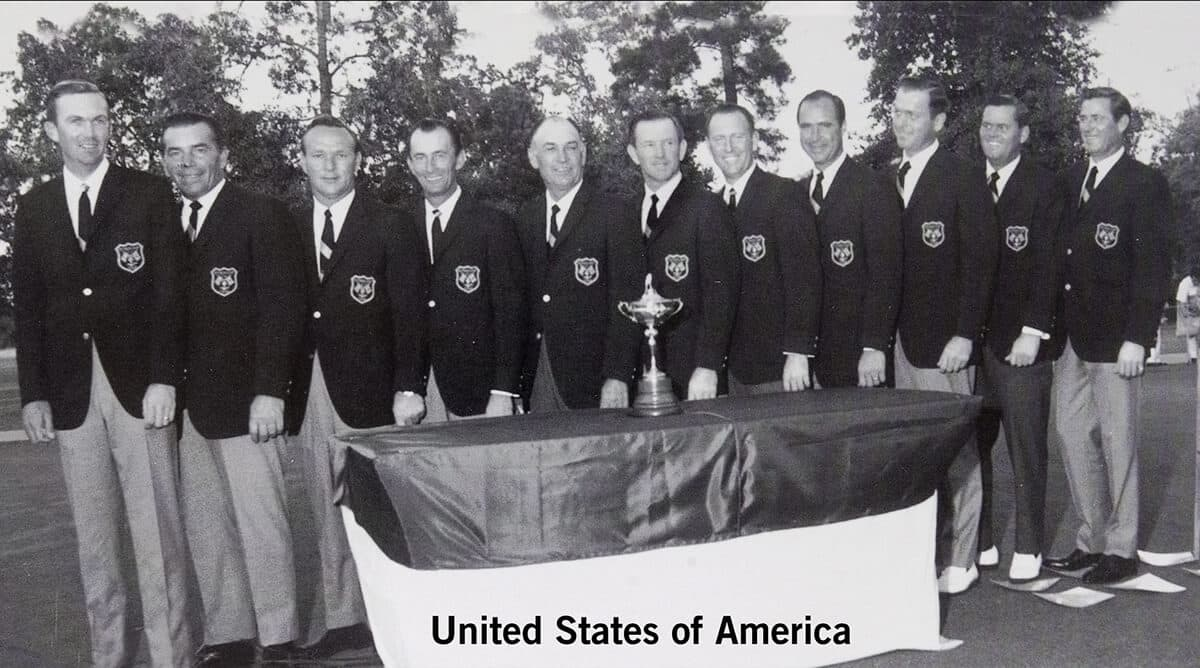 1967 - Houston, Texas. United States of America Team. October 20th, 21st, & 22nd. Final Score: U.S.A. 23 1/2 - Britain & Ireland 8 1/2