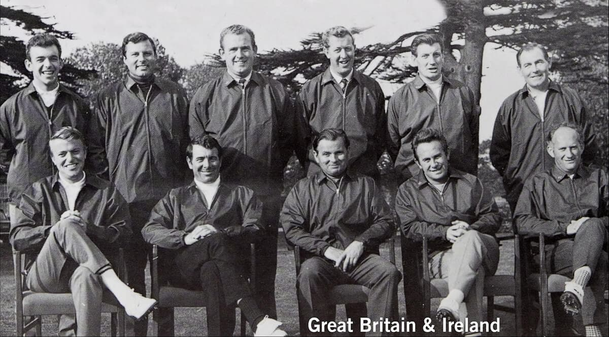 1967 - Houston, Texas. Great Britain & Ireland Team. October 20th, 21st, & 22nd. Final Score: U.S.A. 23 1/2 - Britain & Ireland 8 1/2