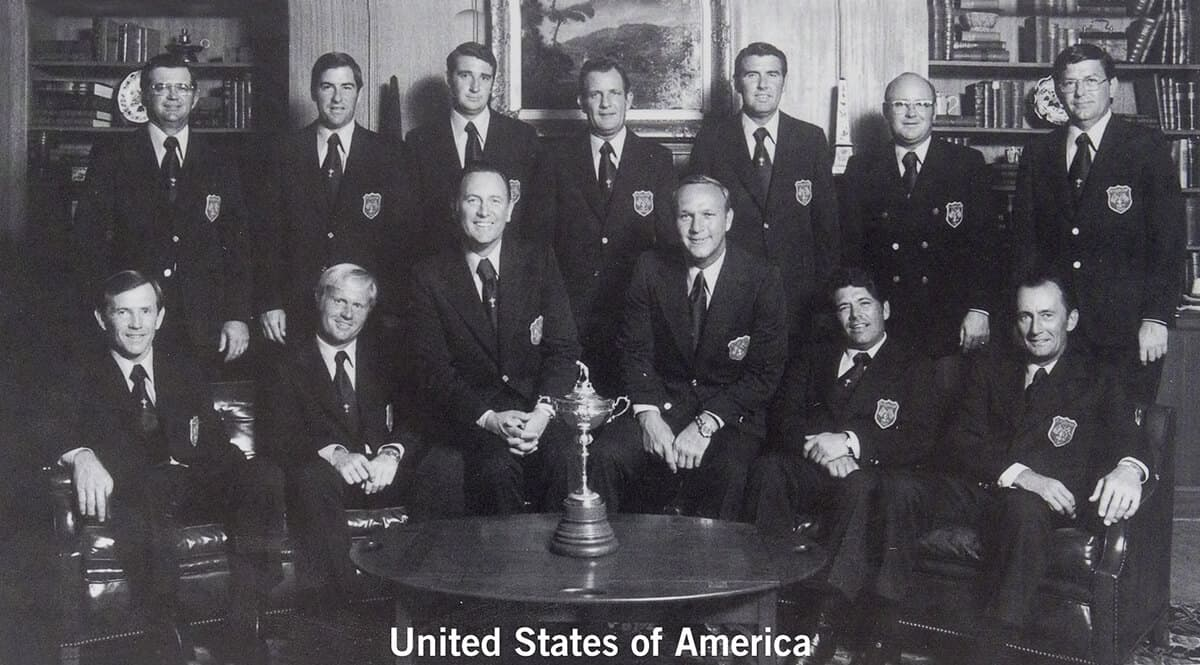 1971 - St. Louis, Missouri. United States of America Team. September 16th, 17th & 18th. Final Score: U.S.A. 18 1/2 - Britain & Ireland 3 1/2.