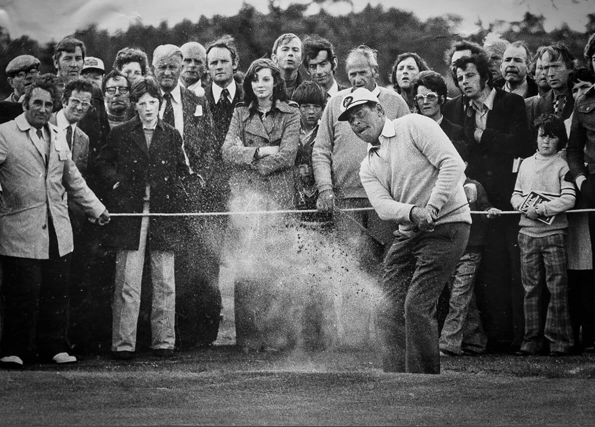 Guinness Championship at Carlow GC June 1975. Christy O'Connor chips to the green on his way to victory.