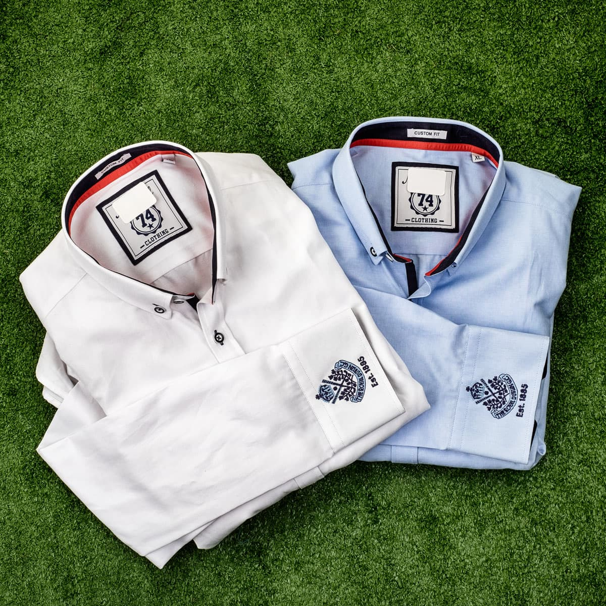 Casual shirt with crest on cuff - €59.95