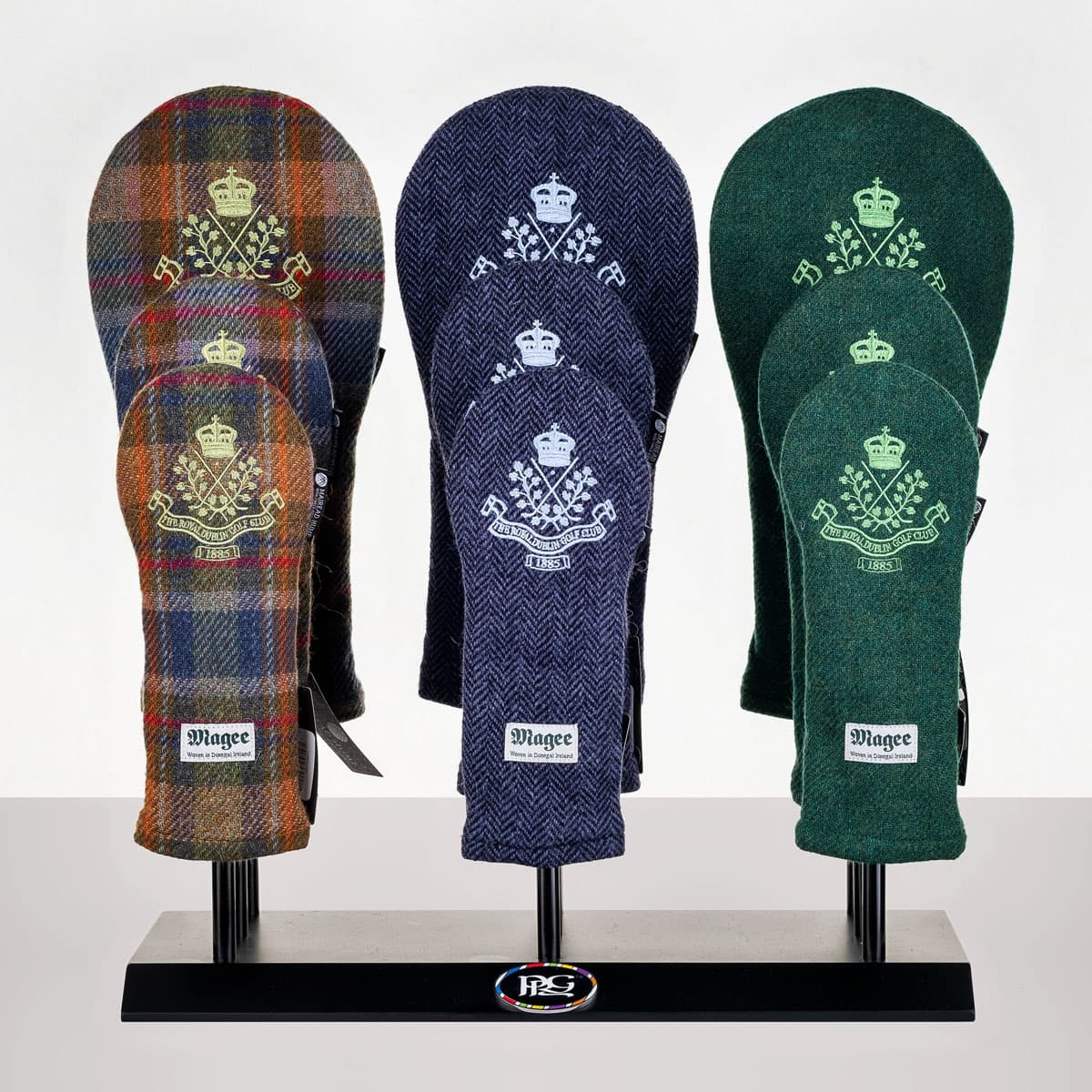 Donegal tweed headcovers from €79.95 to €99.95