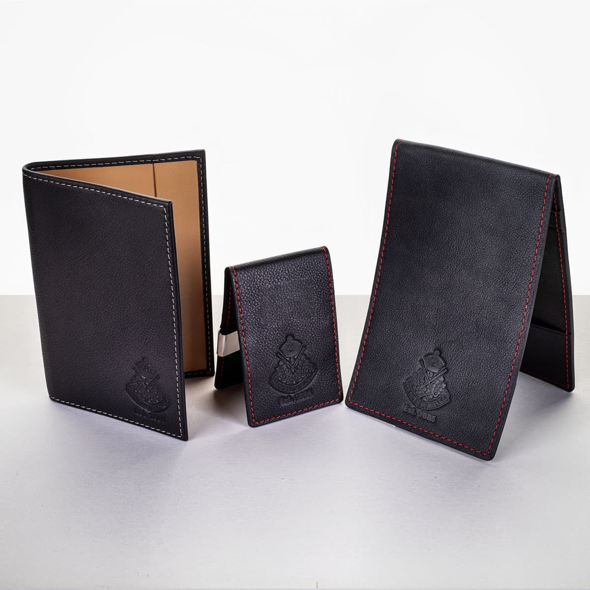 Leather scorecard holder, yardage book holder and wallet - €59.95 each