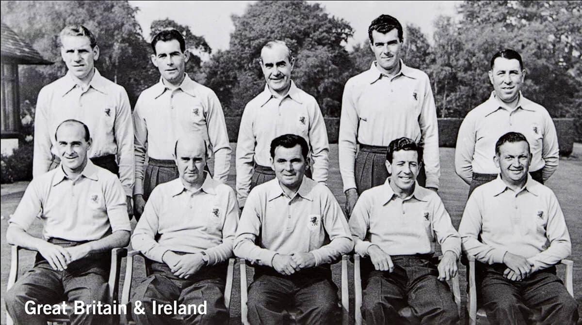 1955 - Thunderbird Golf Club, California. Great Britain & Ireland Team. November 5th & 6th. Final Score: U.S.A. 8 - Britain & Ireland 4.