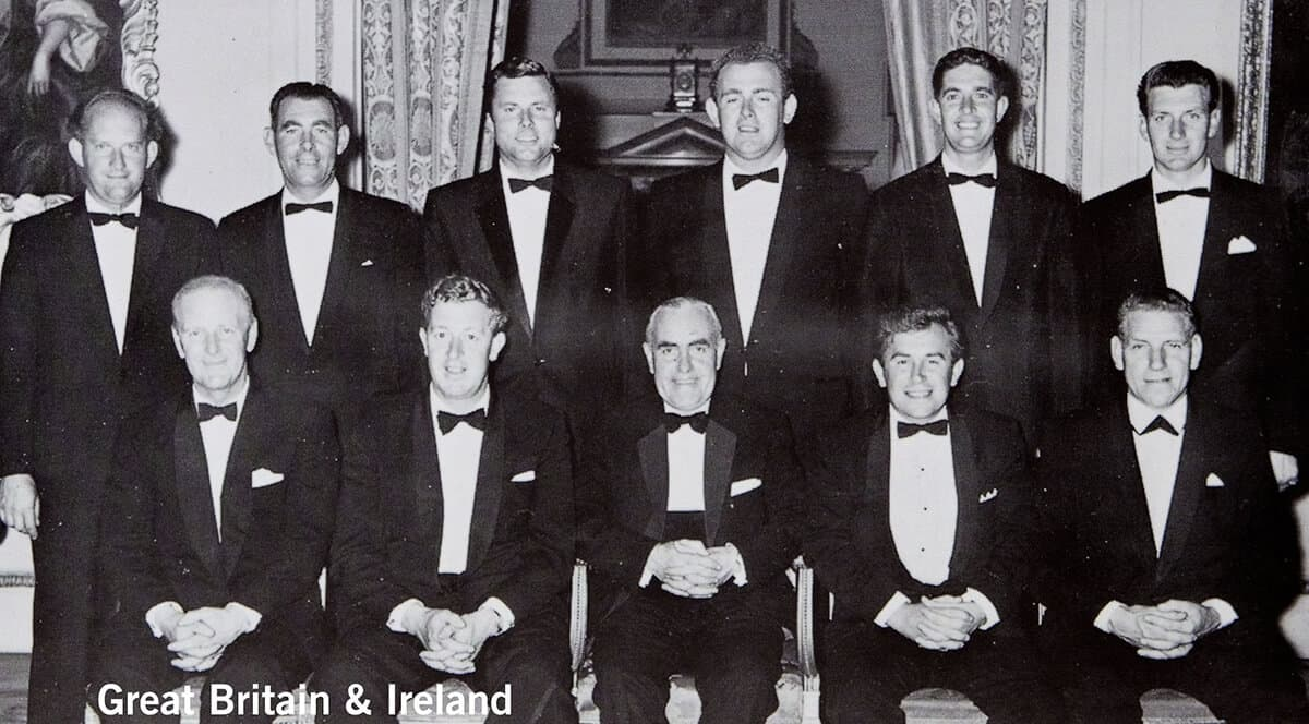 1963 - Atlanta, Georgia. Great Britain & Ireland Team. October 11th, 12th & 13th. Final Score: U.S.A. 23 - Britain & Ireland 9.